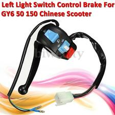 Left Light Switch Control Brake Lever For GY6 50 150 Scooter Moped Parts New