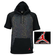 New Mens XXL NIKE Air Jordan VII Quilted Fleece SS Zip Hoodie $135 706729-011