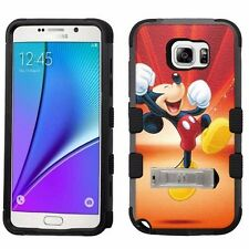 for Samsung Galaxy Note 5 Armor Case+Metal Kickstand Mickey Mouse #Y