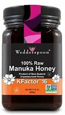 Wedderspoon 100% Raw Creamy New Zealand Manuka Honey KFactor 16+ 17.6 oz / 500G