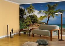 GIANT Wall Mural Photo Wallpaper PRASLIN TROPICAL BEACH Living Room Decor Art