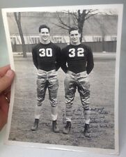 INSCRIBED ca.1943 Notre Dame FOOTBALL Photo: JOHNNY LUJACK Long Msg to Friend