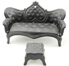 Vintage Cast Iron Toy Sofa Couch & Ottoman