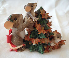 """You Help Top Off the Season"" #87/138 Fitz & Floyd Charming Tails Mice Figurine"