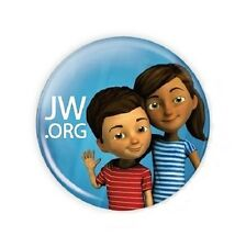 15 1.5 Inch JW.ORG Caleb and Sophia Buttons Pins.
