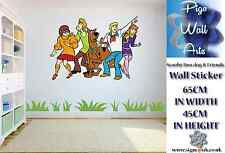 Scooby Doo dog & Friends Wall Stickers Childrens bedroom wall sticker large