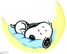 """6"""" BABY SNOOPY ON MOON  CHARACTER  PREPASTED WALLPAPER BORDER CUT OUT"""
