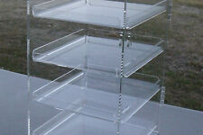 ACRYLIC DISPLAY CABINET Four Tray CAKE BAKERY MUFFIN DONUT 57x33x31cm,5mm