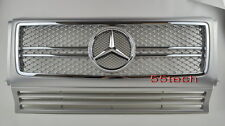 Mercedes G Class W463 Grille Grill G500 G55 02~12 AMG Silver (A2-GG)