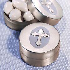 Silver Cross Design Mint Tins Favor Baptism Christening Gift Favors