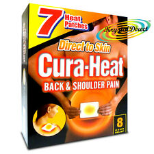 Cura Heat Back & Shoulder Pain DIRECT TO SKIN 8H Relief 7 Heat Pads