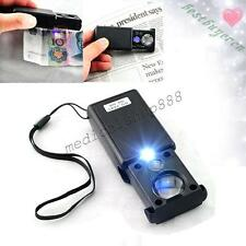 Loupe tester Magnifier Jeweler Diamond Loupe Gemstone magnifier+ LED Light low