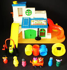 VINTAGE FISHER-PRICE SESAME STREET CLUBHOUSE #937 W/EXTRAS & NICE!