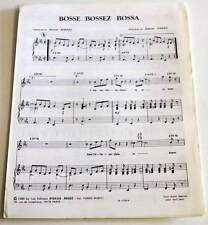 Partition sheet music GABRIEL YARED / MICHEL JONASZ : Bosse Bossez Bossa * 80's