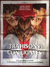 Affiche TRAHISONS CONJUGALES Betrayal JEREMY IRONS Ben Kingsley 120x160cm
