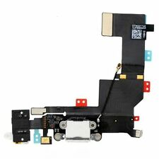 White Headphone Audio Jack Charger Charging Port Dock Flex Cable For iPhone 5S