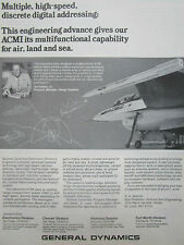 7/1980 PUB GENERAL DYNAMICS ELECTRONICS ACMI MISSILE F-16 FALCON JOE GALIAN AD