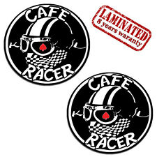 2 VINYL STICKERS CAFE RACER DECAL CHEQUERED SCARF MOTORCYCLE RACE CAR TUNING D54