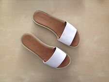NEW See By Chloe Robin Leather White Platform Slides Sandals Size 36
