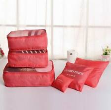 6 Pcs/Set Waterproof Clothes Storage Bags Packing Cube Travel Luggage Organizer