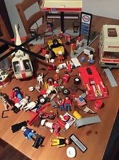 Vintage Playmobil Esso Helicopter Ambulance Bundle Job Lot