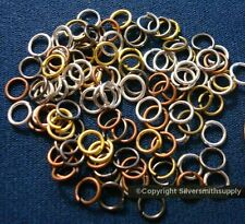 5mm 20 gauge open jump rings 100pcs 6 mixed plated finishes attach charms fpj075
