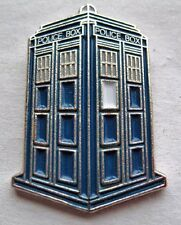 Metal Enamel Pin Badge Brooch Police Box Who is in the Blue Box Doc