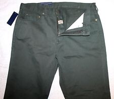 Polo Ralph Lauren Big & Tall Mens Dark Green 5-Pocket Jeans Pants NWT 44 T x 36