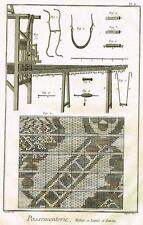 Diderot Enclyclopedie   PASSEMENTERIE  (SEWING)   Fine Antique Engraving 1751-72