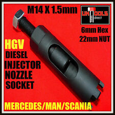 Diesel Injector Nozzle Socket**HGV**Mercedes**Man**Scania**M14 x 1.5mm**