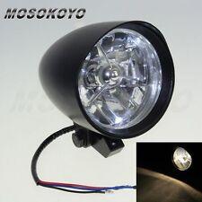 4 1/2 Tribar Cobra Billet Headlight W/ Visor For Harley Bobber Chopper Custom