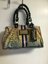 Betseyville by Betsey Johnson Multi Color SnakeSkin Print Large Purse Handbag