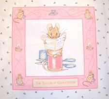 "1993 BEATRIX POTTER MOUSE TAILOR OF GLOUCESTER 17"" X 17.5 "" QUILT FABRIC PANEL"