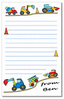 nb Personalised NOTELETS PK 14 note pad A6 or A5, writing paper DIGGER jcb truck