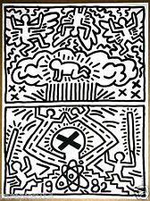 Keith Haring Rare Vintage Original 1982 Lithograph to Support AntiNuclear Rally