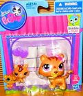 Littlest Pet Shop Mommy and baby Tiger Bobble in style 3593 & 3594 New LPS