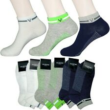 6 Pairs Lot Mens Assorted Colors Casual Cotton blend Ankle Low-Cut Socks M04-01