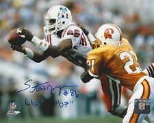 NEW ENGLAND PATRIOTS STANLEY MORGAN AUTOGRAPHED PHOTO AUTO SIGNED
