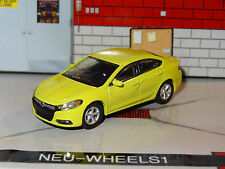 2013-15 NEW DODGE DART GT CITRON YELLA 1/64 SCALE DIORAMA DIECAST COLLECTIBLE PD