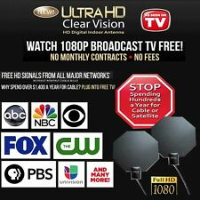 Ultra Hd Clear Vision Antenna, 60 Mile Range