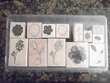 "RAR "" Raining Fowers "" Stampin up - Tulpe Beeren Zweig Blumen Blatt Two-Step Set"