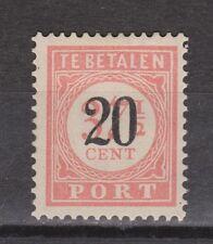 P40 Port nr.40 ongebruikt MLH Nederlands Indie Indonesia due portzegel