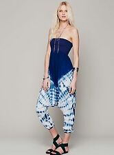 Free People FP Maheya Tie-Dyed Baggy Tube Harem Romper Jumpsuit X-Small $198