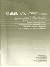 Yamaha KX-260 User Manual BDA Bedienungsanleitung