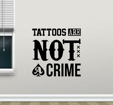 Tattoo Quote Wall Decal Studio Salon Poster Vinyl Sticker Decor Art Mural 78bar