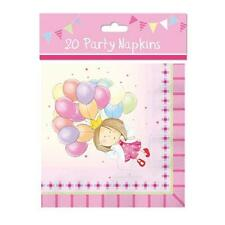 Pack Of 20 Children's Birthday Girls Pink Fairy Princess Party Paper Napkins