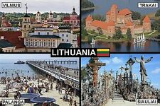 SOUVENIR FRIDGE MAGNET of LITHUANIA