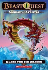 Beast Quest #23: Amulet of Avantia: Blaze the Ice Dragon-ExLibrary