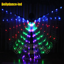 LED isis wings rechargeable belly dance club light show free sticks BAG Sale