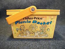 Vintage 1974 Fisher Price Picnic Basket # 677